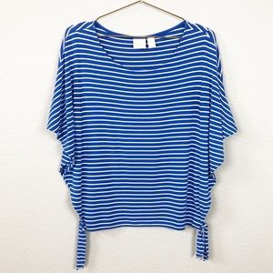 Chico's Striped Dolman Sleeve Blouse